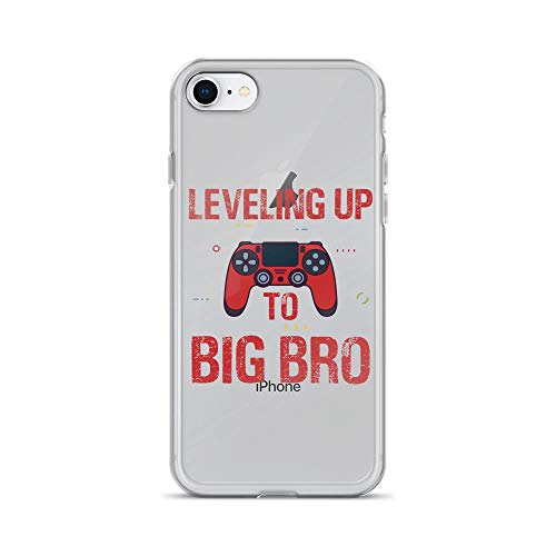 iPhone 7/8 Pure Clear Case Cases Cover Leveling up to Big Bro Funny Gamer TPU Protective Compatible Cover (Best New Mmorpg 2019)