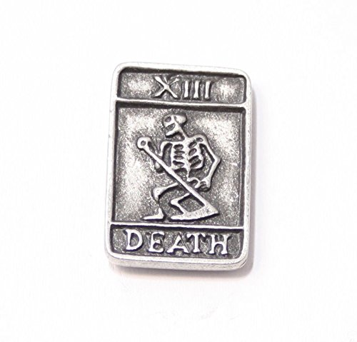 Solid Pewter Tarot Card Death Pin - Card Mother Brooch