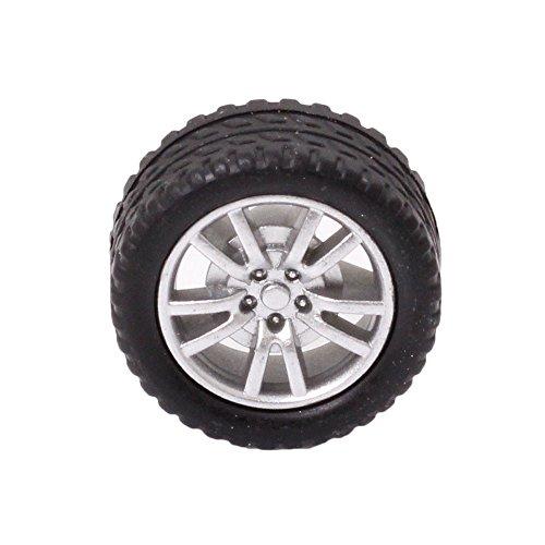 Happybuy 4pcs Wheel 182A Tiny Rubber Tires Easily for DIY Model Robot/Car