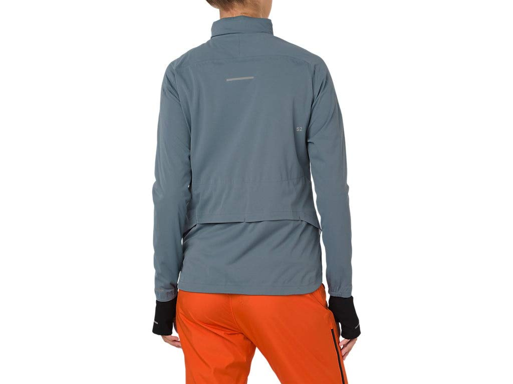 ASICS 2012A018 Women's System Jacket, Ironclad, Small by ASICS (Image #2)