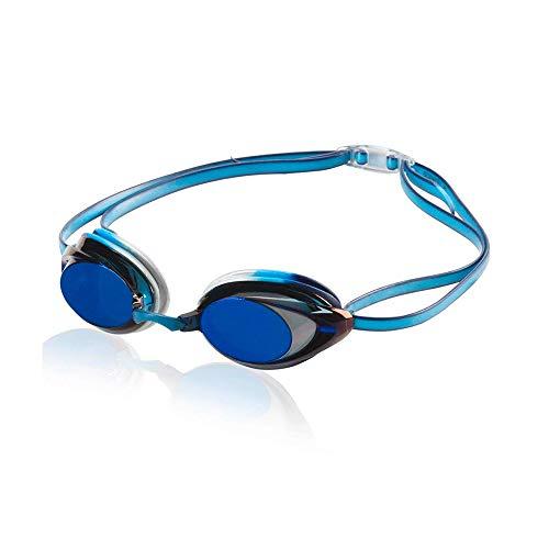 Speedo Vanquisher 2.0 Mirrored Swim Goggle, Pacific Blue, One Size
