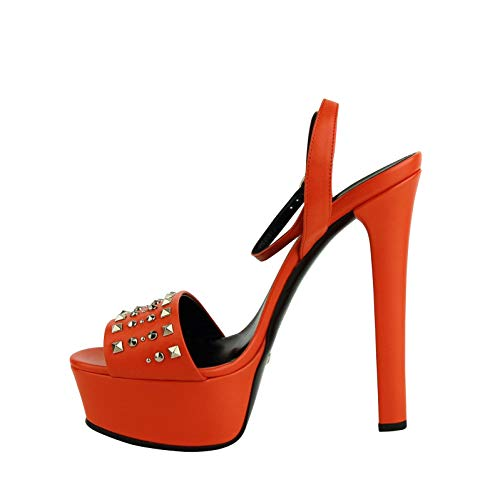 bbab7f4c0 Gucci Women's Orange Leather Platform Heels with Silver Studs 374523 7523:  Amazon.ca: Shoes & Handbags