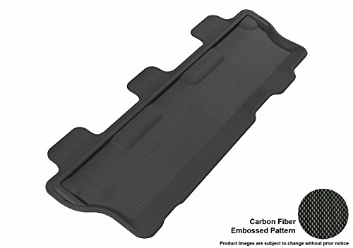 (3D MAXpider Third Row Custom Fit All-Weather Floor Mat for Select Toyota Sequoia Models - Kagu Rubber (Black) )