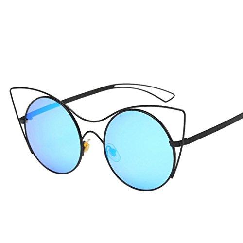 Alimao Women Men Vintage Retro Glasses Unisex Fashion Aviator Mirror Lens Sunglasses - Douche Sunglasses