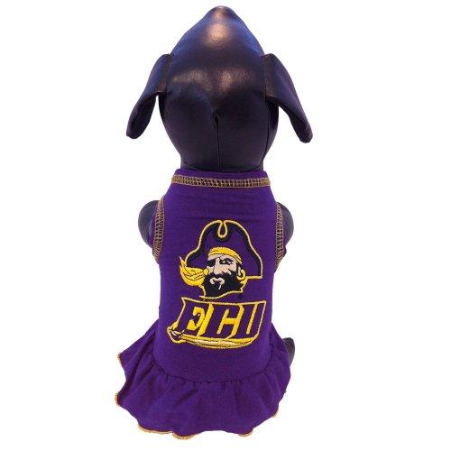 All Star Dogs NCAA East Carolina Pirates Cheerleader Dog Dress, Small - Ncaa Cheerleader Uniforms