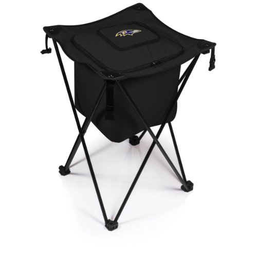 (NFL Baltimore Ravens Sidekick Insulated Portable Cooler with Integrated Legs,)