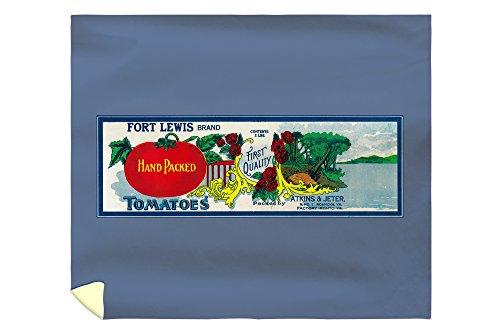 (Lantern Press Fort Lewis Tomato Label 2055 (88x104 King Microfiber Duvet Cover))
