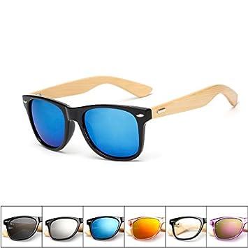 SQYJING Gafas de Sol para 17 Colores Gafas de Sol de Madera ...