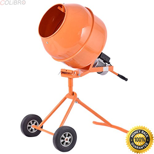 COLIBROX--Portable 5Cuft Electric Concrete Cement Mixer Barrow Machine 1/2HP Mixing Mortar. kushlan products 600dd unassembled direct drive cement mixer. pro force cement mixer. kushlan cement mixer.. by COLIBROX