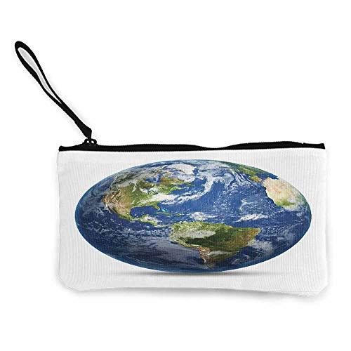 World Map,Small Purse Wallets Planet Earth Picture From Space Satellite Continents Clouds Picture W 8.5