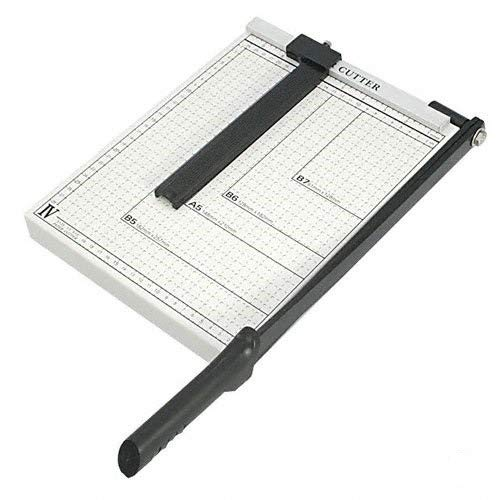 Paper Cutter Guillotine Style 12'' Cut Length X 10'' Inch Metal Base Trimmer by EDMBG