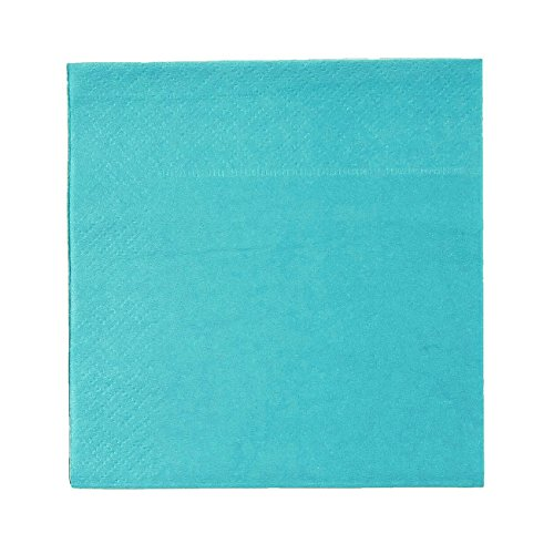Cocktail Napkins - 200-Pack Disposable Paper Napkins, 2-Ply, Teal Green, 5 x 5 Inches Folded
