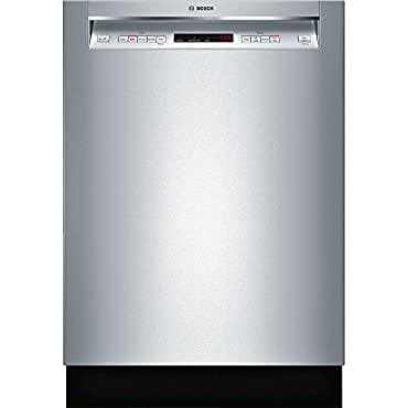 Bosch SHEM63W55N 24 300 Series Built In Full Console Dishwasher with 5 Wash Cycles,in Stainless Steel