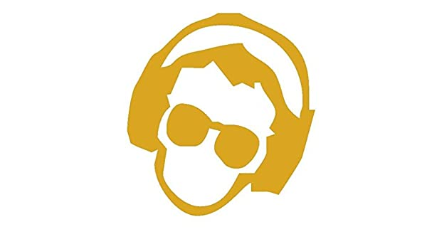 DJ-Pegatina de hombre Prespaziato-dorado-20 cm: Amazon.es: Coche y ...