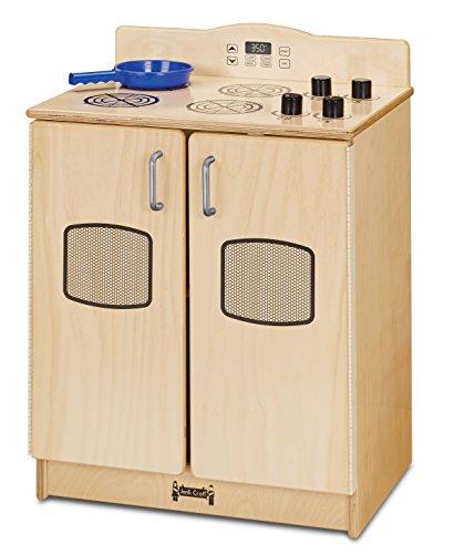 Jonti-Craft 2409JC Culinary Creations Play Kitchen Stove, Natural - Jonti Kitchen Craft