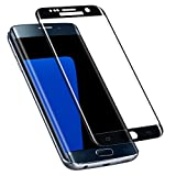 Galaxy S7 Edge Screen Protector, Capshi S7 Edge Tempered Glass Full Coverage 3D Curved High Definition Ultra Clear Film Anti-Bubble Screen Protector for Samsung Galaxy S7 Edge (Black)
