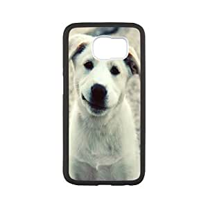 Cases For Samsung Galaxy S6, Smiling Puppy Cases For Samsung Galaxy S6, Tyquin White