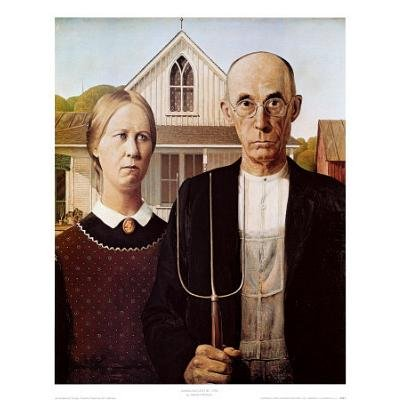 American Gothic Art Poster By Grant Wood Print 9x11