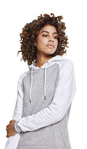 Classics College gry Mujer Urban Ladies Contrast Vestido wht Dress Para 00132 Multicolor Hooded RgtqBtnZ