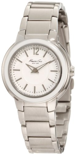 Kenneth Cole New York Men's KC4822 Classic Silver Dial White Enamel Bezel Watch
