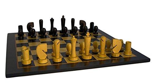 Juego de ajedrez de doble peso berlinés negro en tablero de arce Birdseye