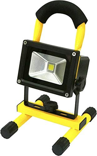 Rolson Heavy Duty COB Rechargeable Work Light 10W Black/Yellow (Pack of 2) (2)