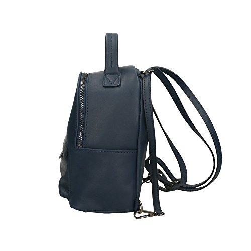 Made véritable Aren Italy 17x20x11 Cm petit sac cuir in Foncé dos Sac Bleu en à femme P8T7HzPr