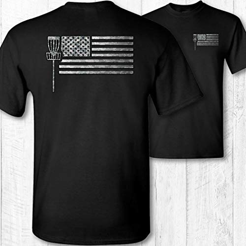 (Men's American Flag Disc Golf Shirt)