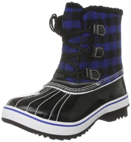 Skechers Highlanders Ice Pack, Damen Stiefel Schwarz/Blau/Schwarz