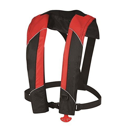 Inflatable Life Jacket Automatic/Manual Light weight Life vest PFD with harness - CE approved and comply with EN396 (Abs Jacket)