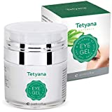 Tetyana naturals Eye Gel with Allantoin, Hyaluronic acid for Puffiness, Wrinkles, Dark Circles