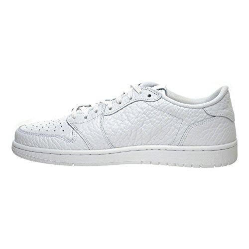 ... Air Jordan 1 Rétro Faible Pas Swoosh Chaussures Pour Hommes Blanc /  Blanc 872782-100 ...