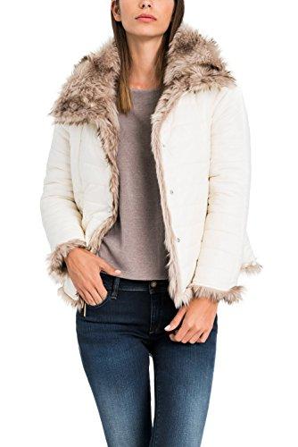 Salsa - Manteau rversible avec fourrure - Femme Perle