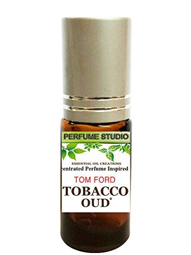 Tobacco Oud Perfume Oil. IMPRESSION of -{TF_Tobacco_Oud} SIMILAR Fragrance Notes, 5ml Amber Glass Roller, Silver Cap; 100% Pure (TF Tobacco Oud Perfume Oil VERSION/TYPE; Not Original Brand) Perfume Studio