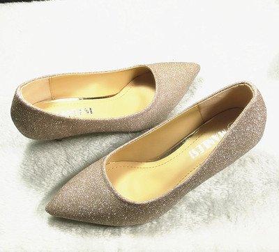 3 fine argento singola scarpe cm oro con sposa calzatura Madre accompagnato banchetto di matrimonio tacco matrimonio scarpe 36 Punta nero alta ZHgXwqw