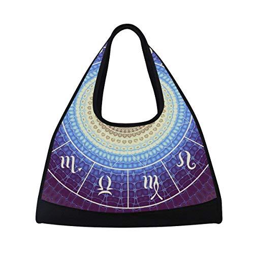 6ae7a1bf486 OuLian Sports Gym Bag India Mandala Constellation Duffel Bag