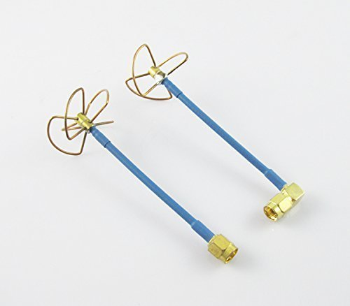 Anbee FPV 5.8Ghz Circular Polarized Clover Leaf Antenna High Gain Aerial Set RP-SMA Female Plug