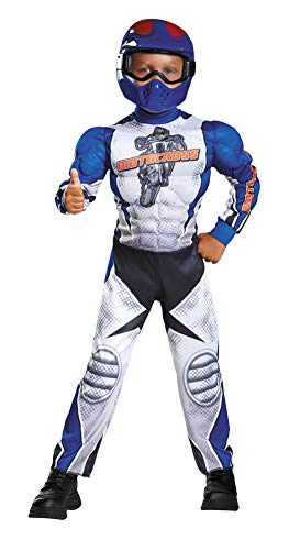Boys Motorcycle Rider Muscle Kids Costume Small 4-6 Boys -