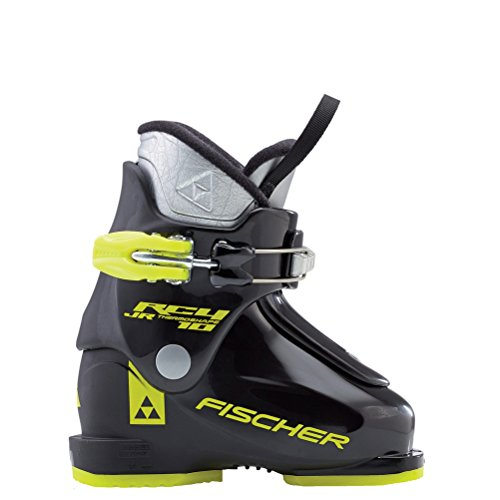 (Fischer RC4 10 Junior Thermoshape Ski Boots Black/Black 16.5)