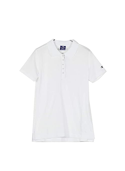 Champion Polo Women Light Pique Gr.175 Blanco (White Wht): Amazon ...