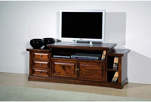 Mueble de madera para la televisión, 155 x 45 x 62 (altura) cm: Amazon.es: Hogar