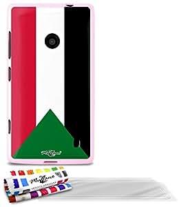"""Carcasa Flexible Ultra-Slim NOKIA LUMIA 520 de exclusivo motivo [Bandera Sudán] [Rosa] de MUZZANO  + 3 Pelliculas de Pantalla """"UltraClear"""" + ESTILETE y PAÑO MUZZANO REGALADOS - La Protección Antigolpes ULTIMA, ELEGANTE Y DURADERA para su NOKIA LUMIA 520"""