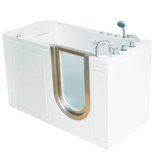 Safety Tub Air Bubble System - Deluxe Dual Massage Acrylic Walk In Bathtub -ETL Certified- 80sec Fast Drain System (LEFT Side Drain) 29.5