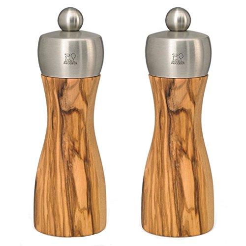 - Peugeot Fidji Classic 6-Inch Pepper & Salt Mill Set, Olive Wood