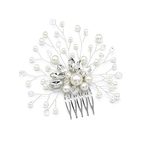 Wedding Hair Comb Ornaments Shining Flower Shape Bride headdress,style 1