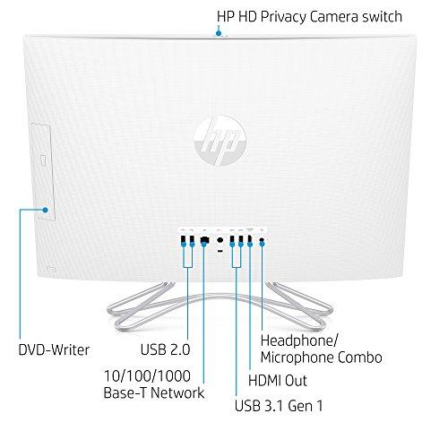 عروض HP 24-inch All-in-One Computer, Intel Core i5-8250U, 12GB RAM, 1TB Hard Drive, Windows 10 (24-f0060, White)