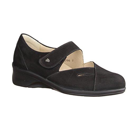Finn Comfort Womens Aquila 3594 Nubuck Shoes Negro