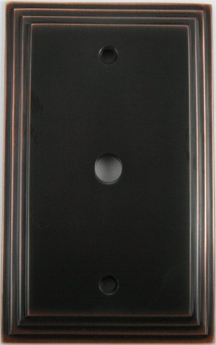 (Deco Step Style Oil Rubbed Bronze 1 Gang Cable TV (coaxial) Wall Plate)