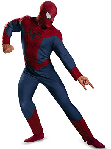 Disguise Men's Marvel The Amazing Movie 2 Spider-Man Classic Costume, Blue/Red/Black, XX-Large/50-52