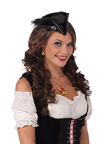 Tricorne Hat (Black Mini Pirate Tricorne Hat)